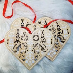 Nordstrom Scandanavian Heart Christmas Ornaments